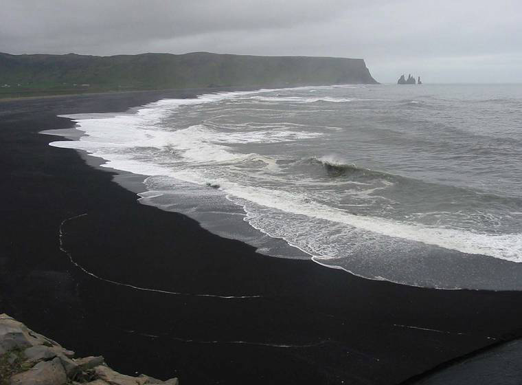 Dyrholaey black beach